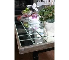 Mirrored coffee table diy Plan
