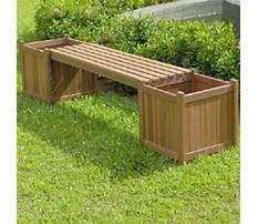 Modern planter bench Plan