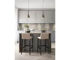 Modern small kitchen design with island Plan