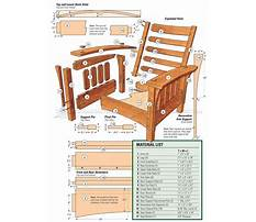Morris chair design Plan