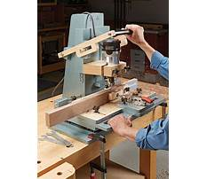 Mortise jig plans router lift Plan
