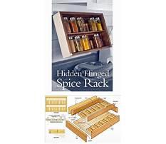 Mounted spice rack wood Plan