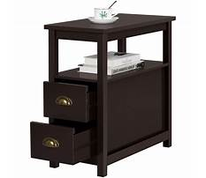 Narrow couch end table with drawers Plan