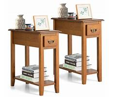 Narrow couch end tables Plan