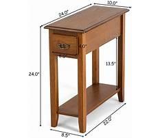 Narrow sofa end tables Plan