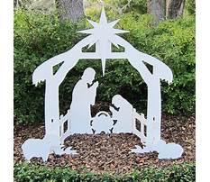 Nativity set plans outdoor Plan