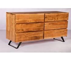 Natural wood dresser with mirror Plan