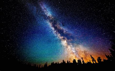 Night Sky Milky Way Galaxy Wallpaper
