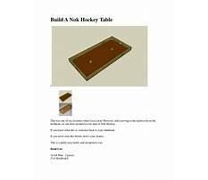 Nok hockey table plans Plan
