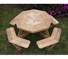 Octagon picnic table plans free Plan