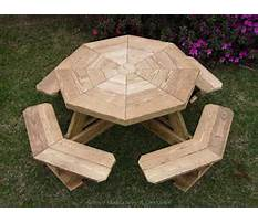 Octagon wooden picnic table plans Plan