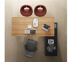 Office desk table top Plan