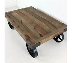 Old wooden industrial cart coffee table Plan