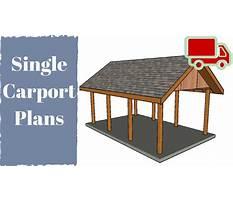 One car carport plans Plan