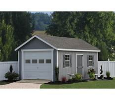 One car garage with carport plans Plan