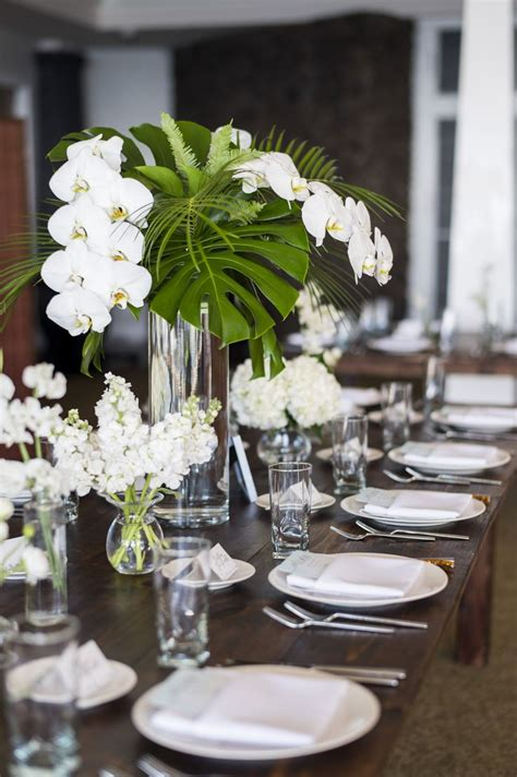 Orchid Wedding Flower Centerpieces