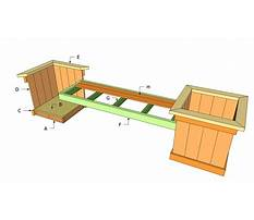 Outdoor bench building plans Plan