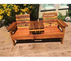 Outdoor bench chair Plan