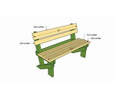 Outdoor bench plans free Plan