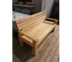 Outdoor bench plans with back and arms Plan