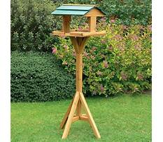 Outdoor bird feeder stands Plan