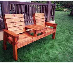 Outdoor chair with table Plan