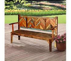 Outdoor decorative wooden benches Plan