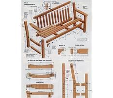 Outdoor furniture bench Plan