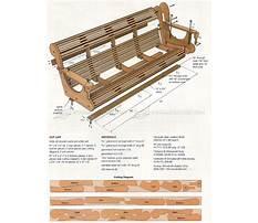 Outdoor furniture porch swing Plan