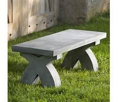 Outdoor garden benches stone Plan