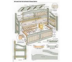 Outdoors wooden storage bench Plan