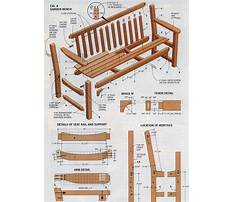 Outside benches Plan