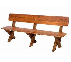 Outside benches with backs Plan