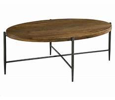 Oval coffee table wood and metal Plan