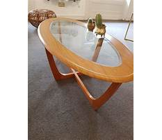 Oval coffee tables wood and glass Plan