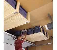 Overhead storage bins for garage Plan