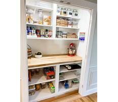 Pantry cabinet shelving ideas Plan
