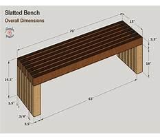 Park bench dimensions plans Plan