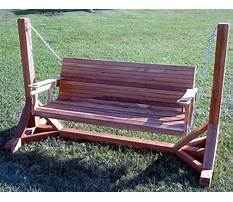Patio bench swing Plan