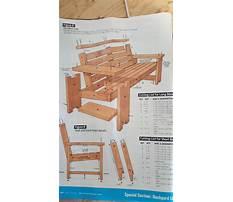 Patio furniture building plans Plan