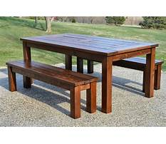 Patio table wood bench designs Plan