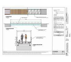 Pedestrian bridge construction detail Plan