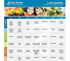 Pediatric celiac disease diet Plan