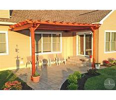 Pergola design attached to house Plan