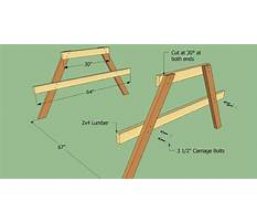 Picnic table and bench   assembly instructions Plan