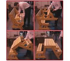 Picnic table folds into bench.aspx Plan