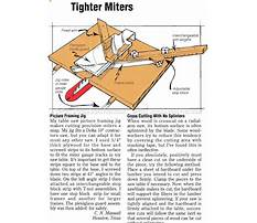 Picture frame jig for miter saw Plan