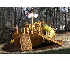 Pirate ship backyard playground sets Plan