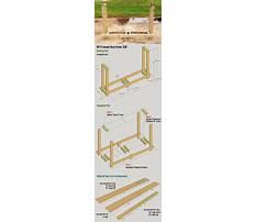 Plans for a firewood holder Plan