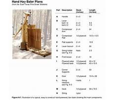Plans for a pine straw baler Plan
